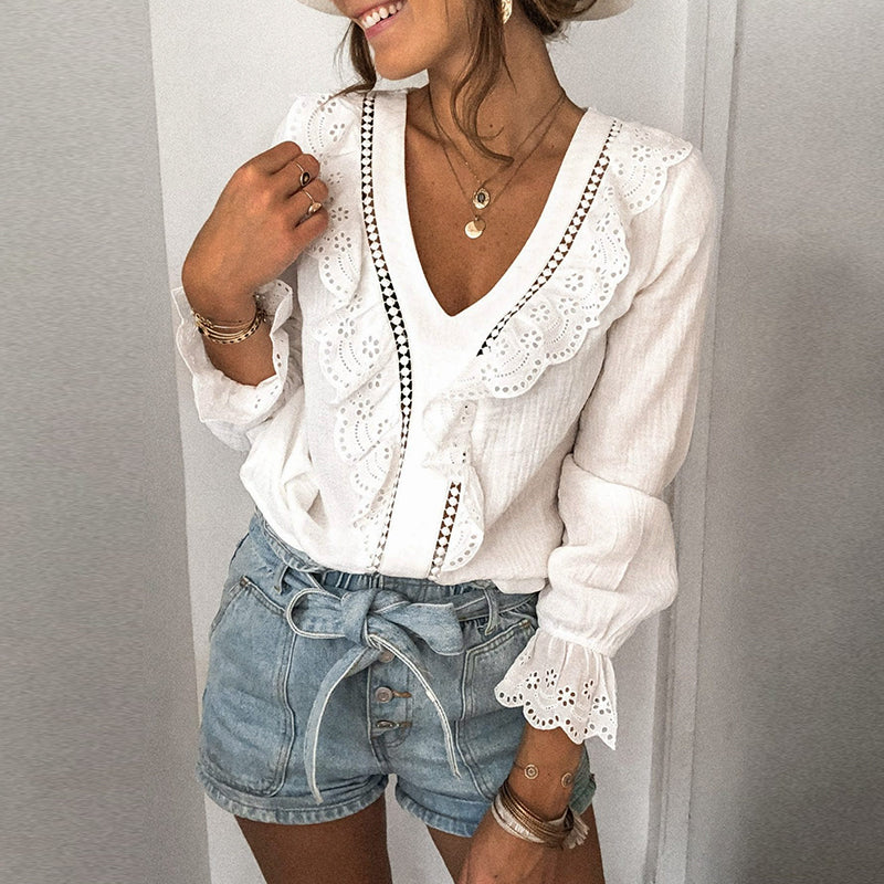 Sienna Lace Patchwork Blouse