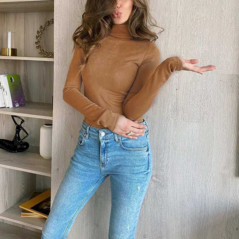 Bethany camel knitted top