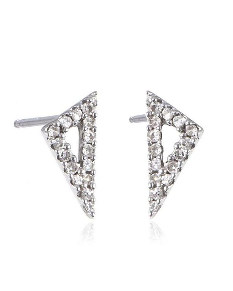Pave Diamond Right Angle Earring
