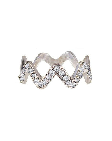 Diamond Blondie Ring Silver