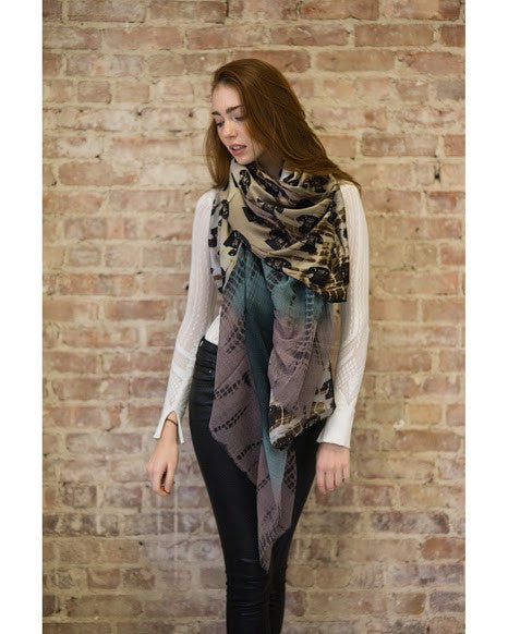 Harlow Sepia Scarf