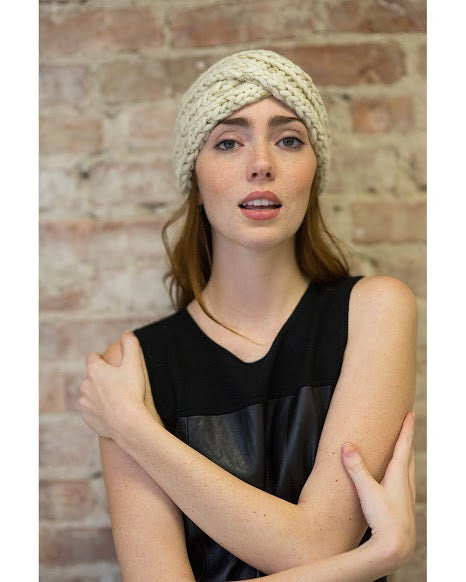 Lula Cream Metallic Turban