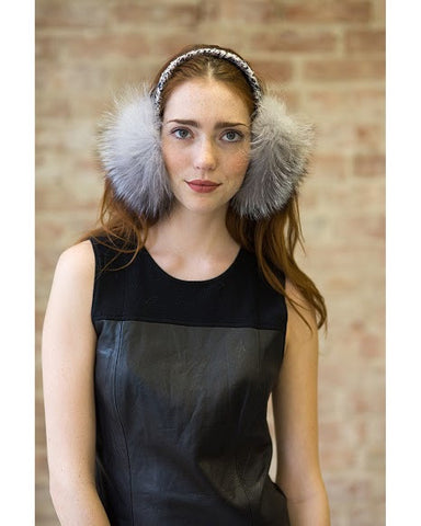 Janine Grey Fox Earmuff