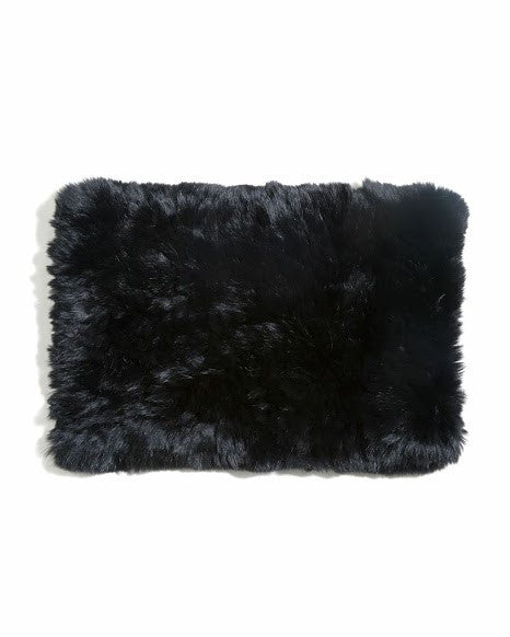 Nanette Black Fur Cowl