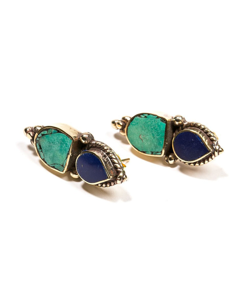 Karen London<br>Free Bird Earring Turquoise Lapis