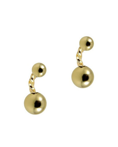 Twist and Ball Earrings