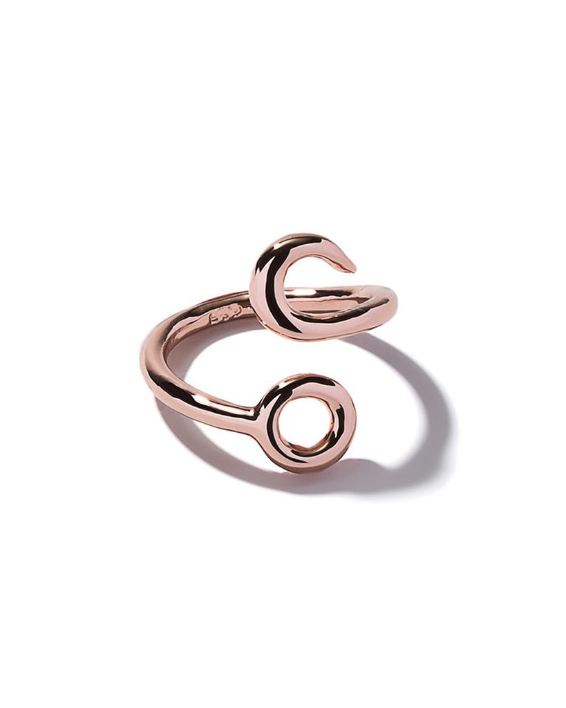 Hook Crossover Ring Rose Gold