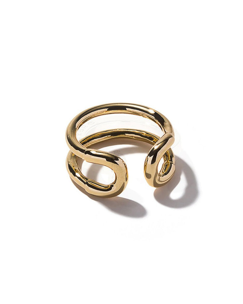 Giles & Brother Mini Cortina Ring Gold Plated jHVYE