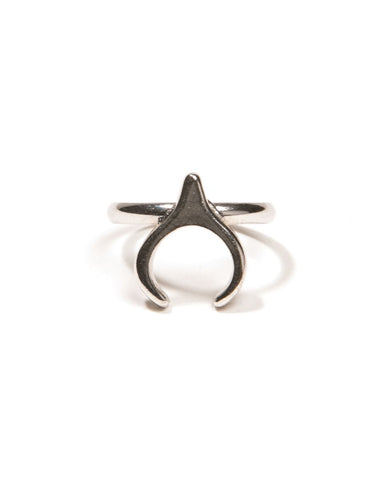 Queen of the Night Rhodium Ring