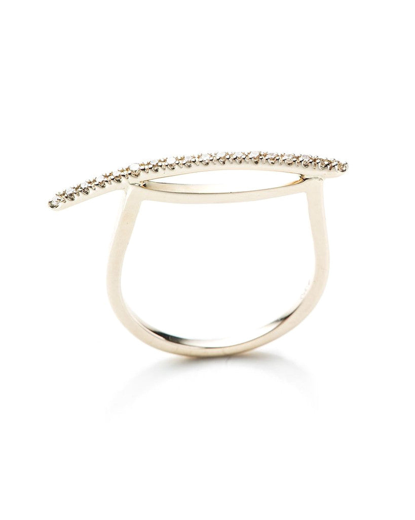 Gossamer Diamond Bar Ring