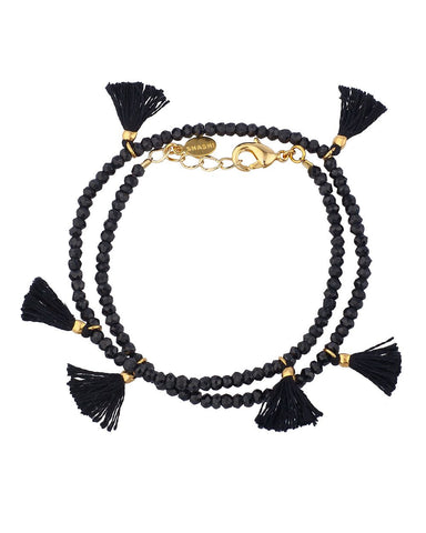 Laila Black Spinel Choker Necklace
