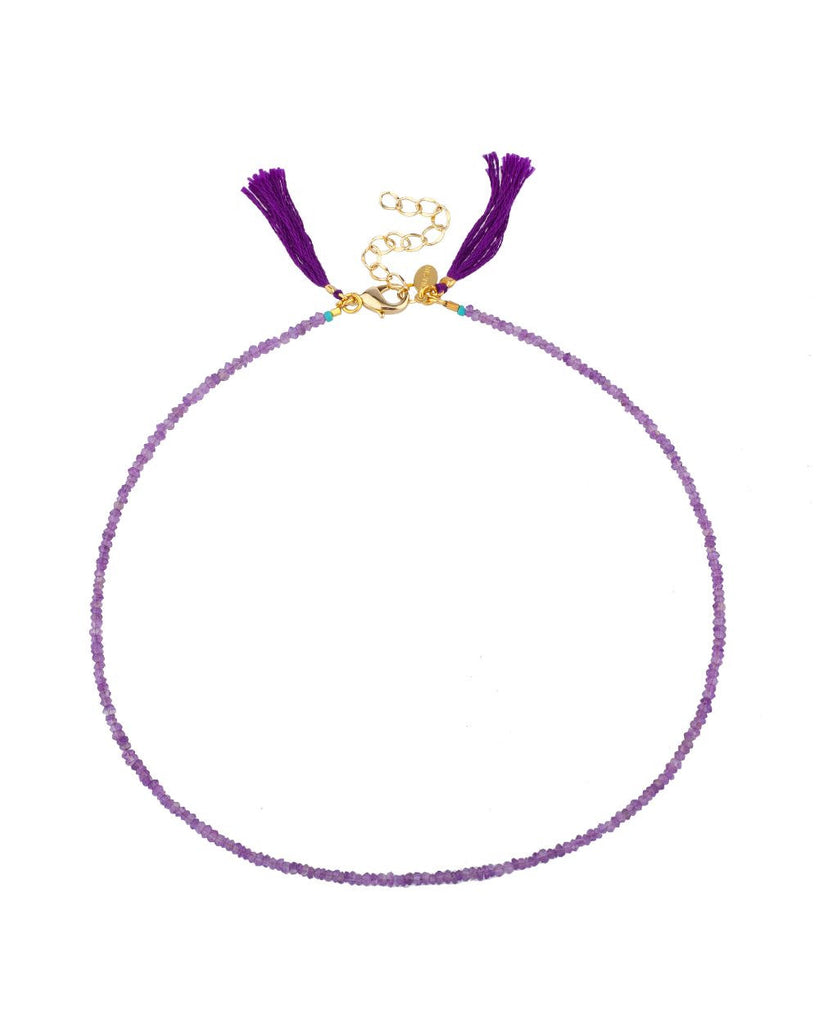 Lola Amethyst Choker Necklace