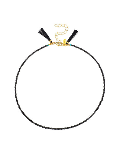 Lola Black Spinel Choker Necklace