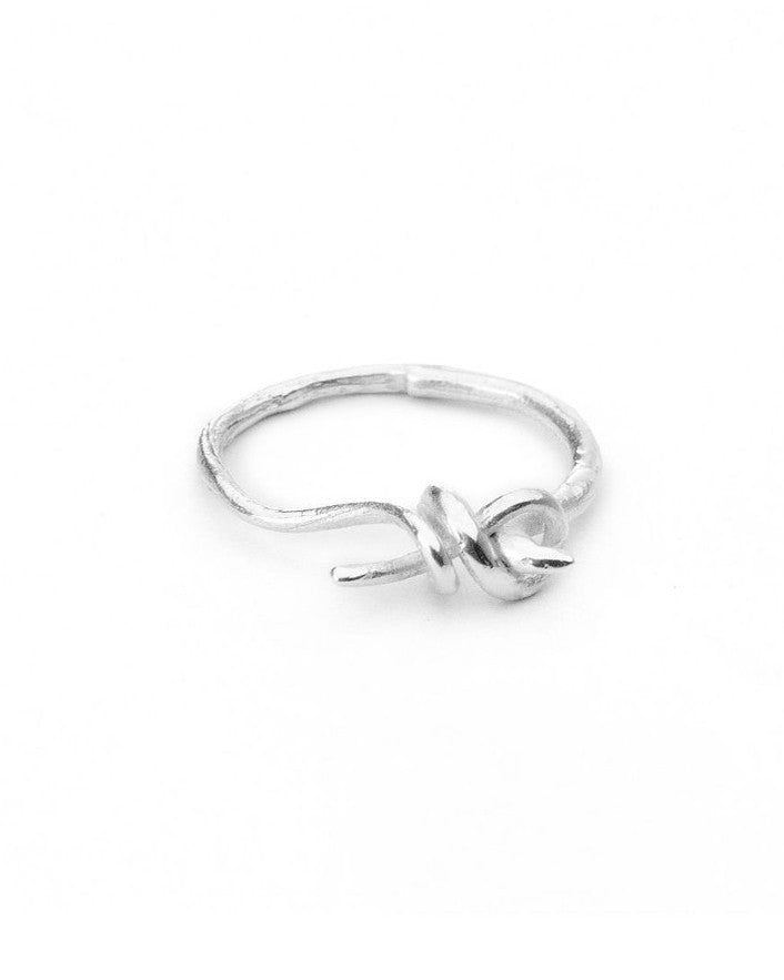 Savannah Love Knot Ring Silver