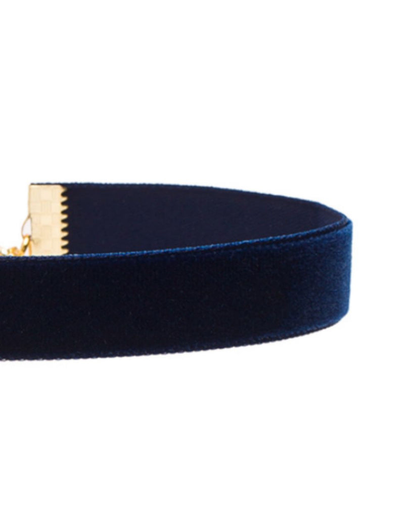 Midnight Blue Velvet Choker