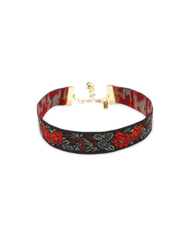Rose Ribbon Choker