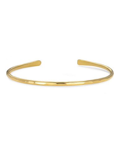 Hammered Yellow Gold Cuff