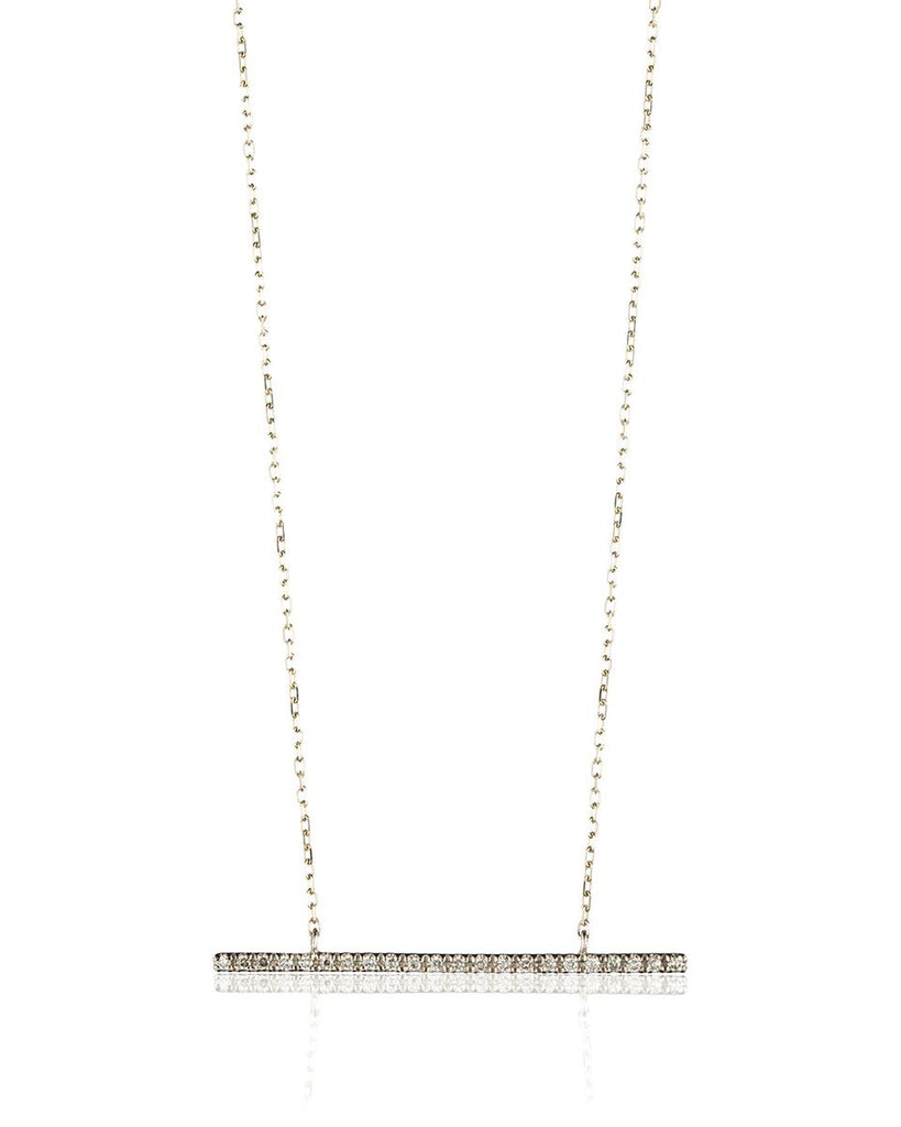 Hirotaka<br>Gossamer Diamond Bar Necklace