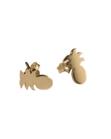 Yellow Gold Pineapple Studs