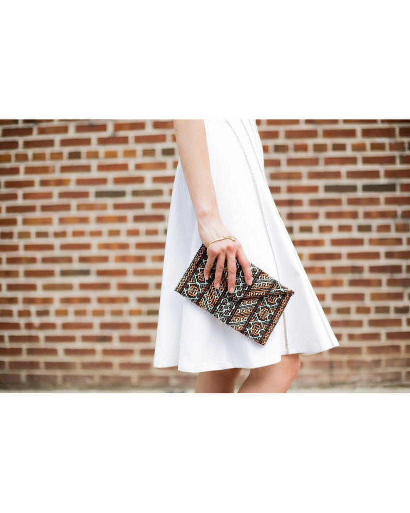Felicia Beaded Envelope Bag Warm