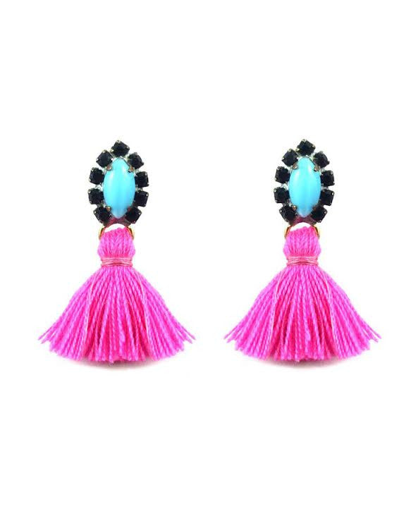 Frieda and Nellie<br>All the Tassel Earring Pink