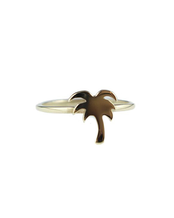 Yellow Gold Palm Tree Ring