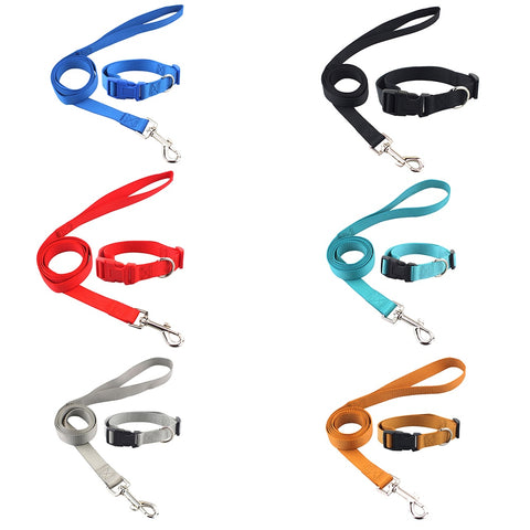 Nylon Pet Dog Collar and  Leash Set