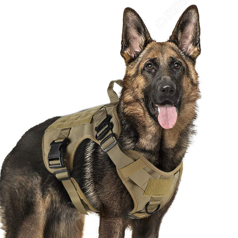 Military Tactical Dog Harness With OR Without Leash
