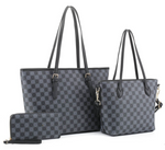 Brittany Checkered Tote