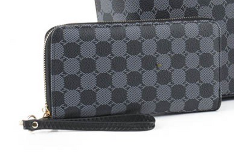 Brittany Checkered Wallet