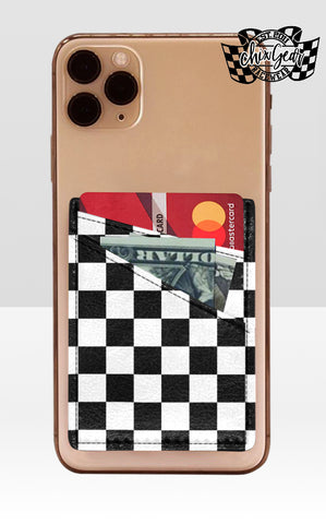 Checkered Phone Card Holder (preorder)