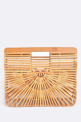 Square Bamboo Clutch