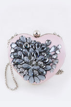 Load image into Gallery viewer, Crystal Heart Clutch