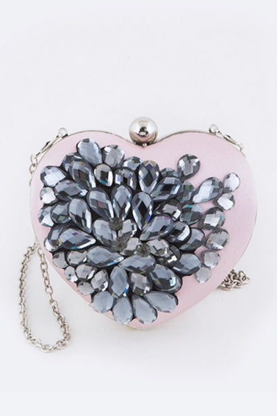 Crystal Heart Clutch