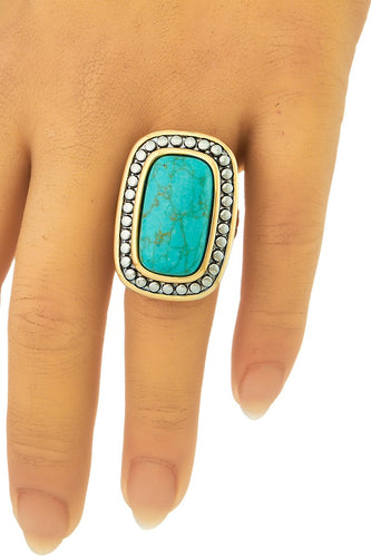 Turquoise Beauty- Rectangle