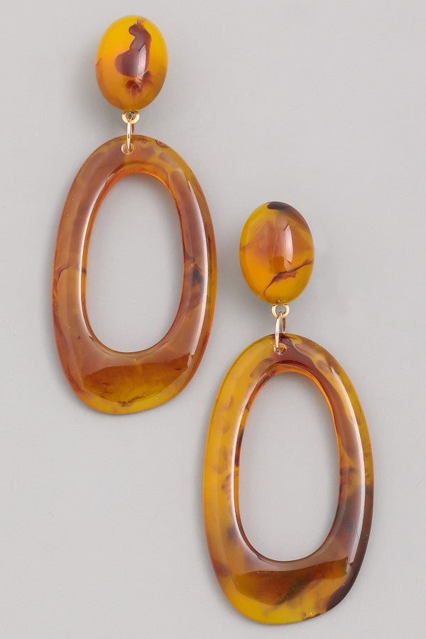 Classy Marble Earrings