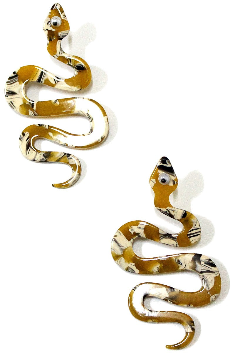 Acrylic Snake Earrings