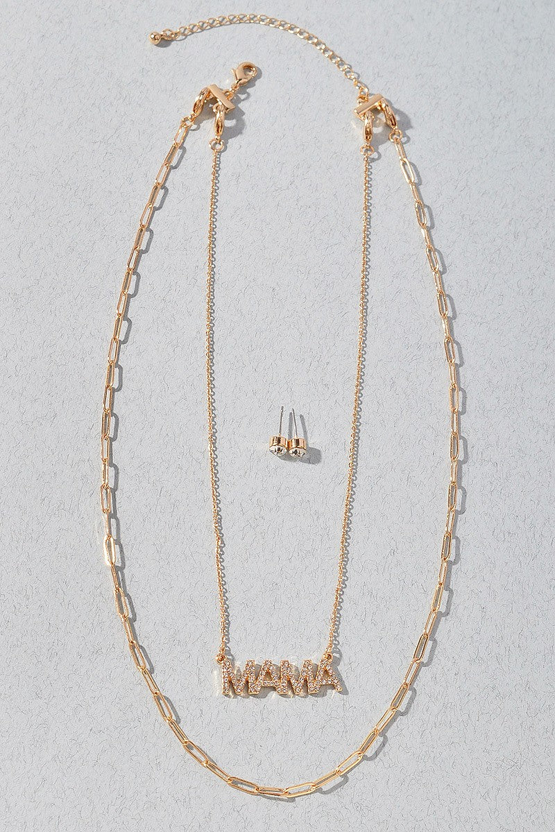 MAMA Layered Necklace Set