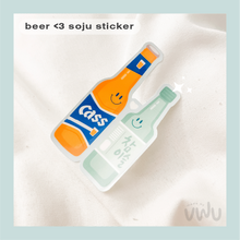 Load image into Gallery viewer, BEER <3 SOJU sticker