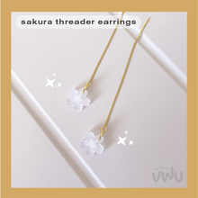Load image into Gallery viewer, SAKURA threader earring