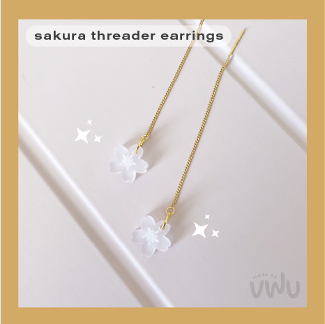 SAKURA threader earring