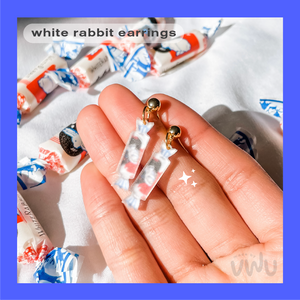 WHITE RABBIT earring