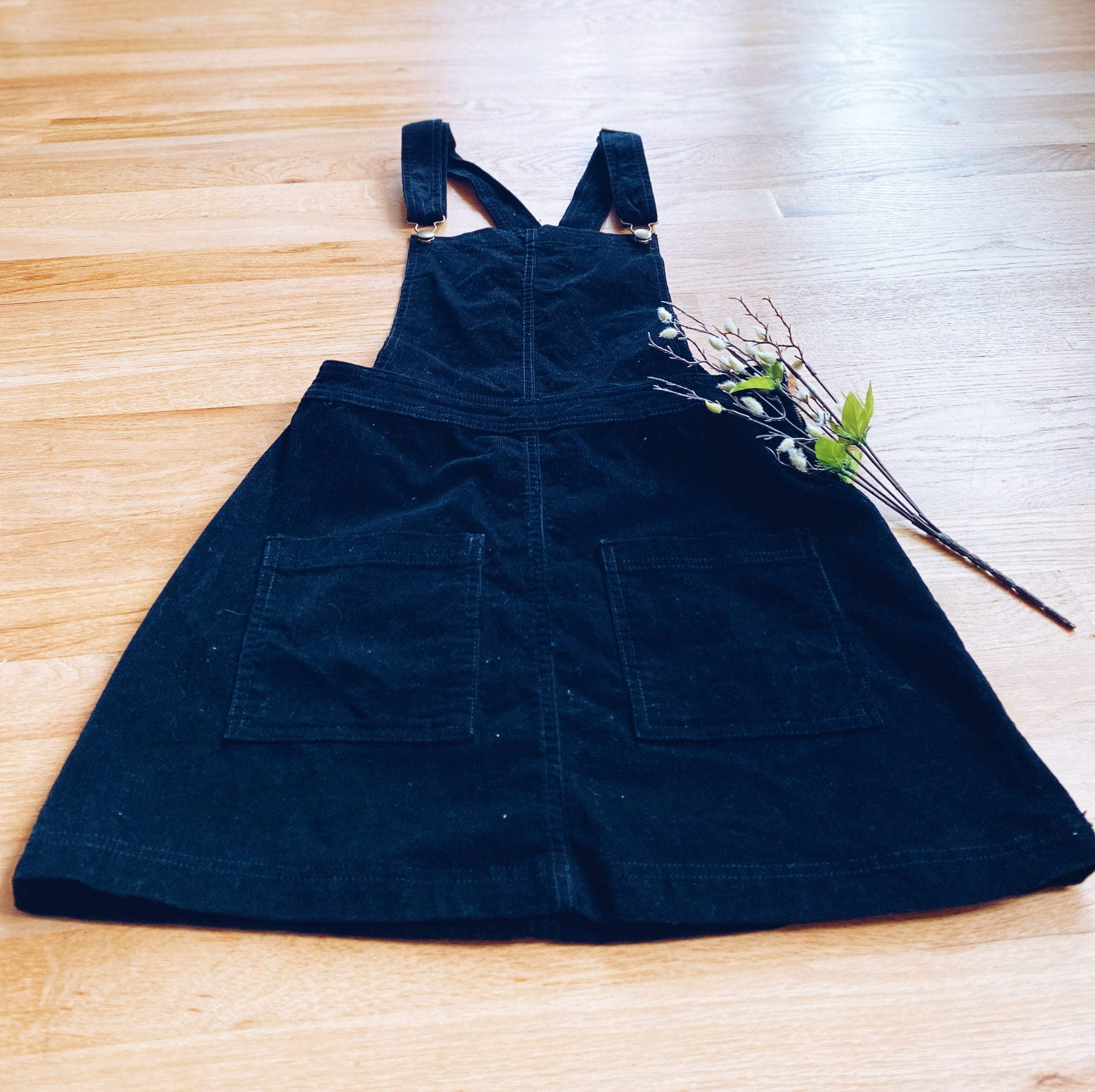 Black Corduroy Dress (S)