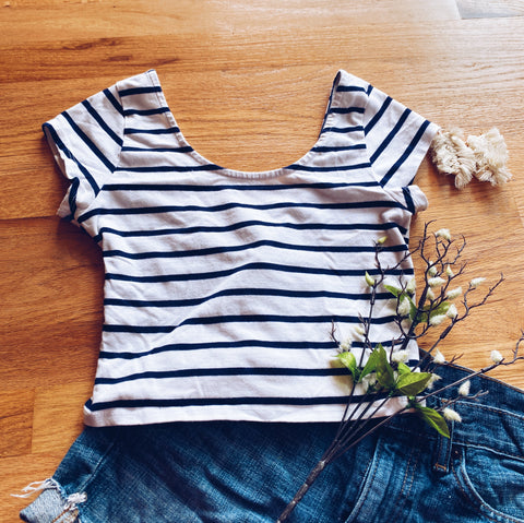 Striped Crop Top (M)