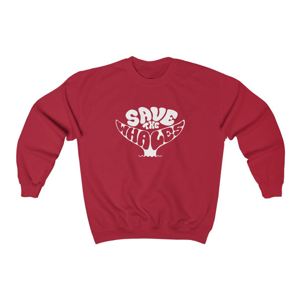 White Save the Whales Crewneck