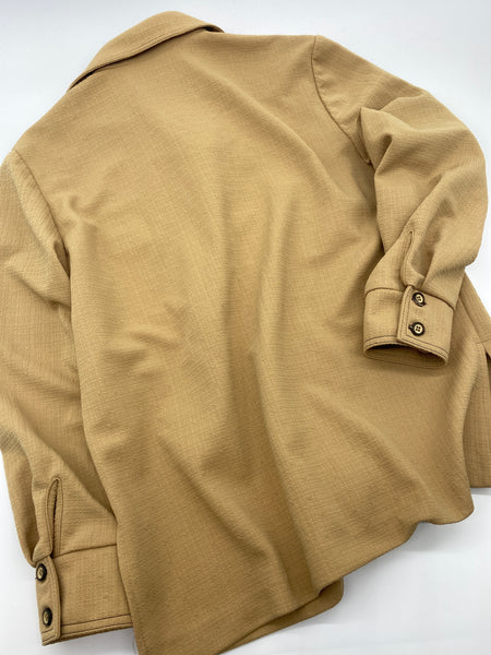 Brown Long Sleeves Shirt Blouse (Size L)