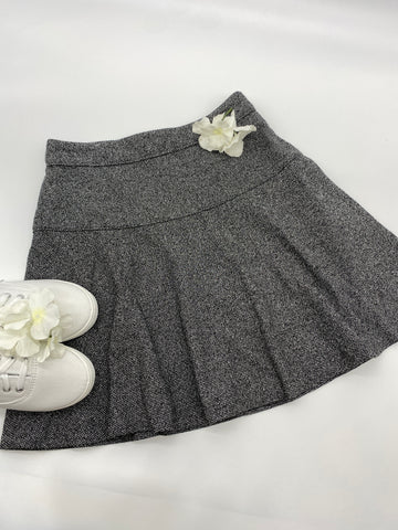 Dark Gray Short Flare Skirt (Size 2)