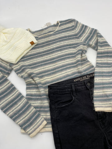 Striped Soft Sweater (M)