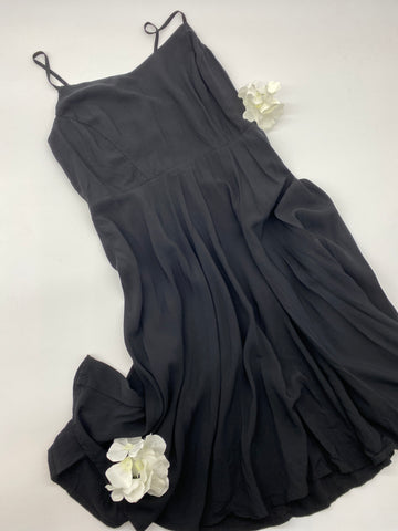 Black Spaghetti Strap Dress (Size M)