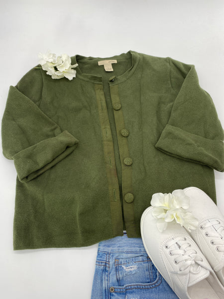 Green Cropped Coat (Size L)